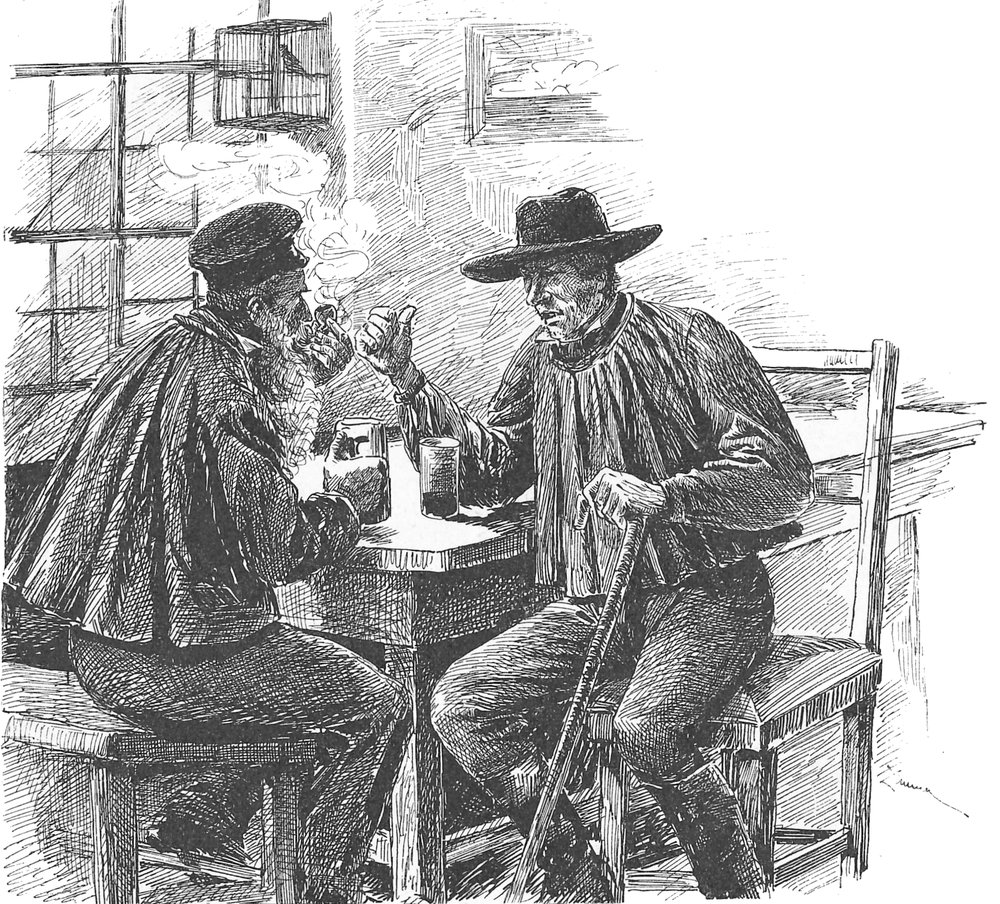053 Village Men at Table Talking.jpg