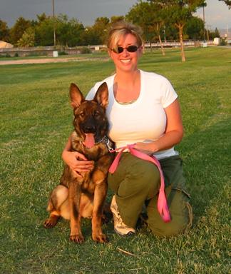 Susan with Heidi