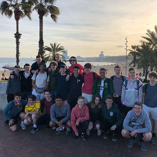 Another great day with our Kelly Walsh group in Barcelona. Big thanks to @b1socceracademy for an amazing training session this morning. On to San Sebastián tomorrow!