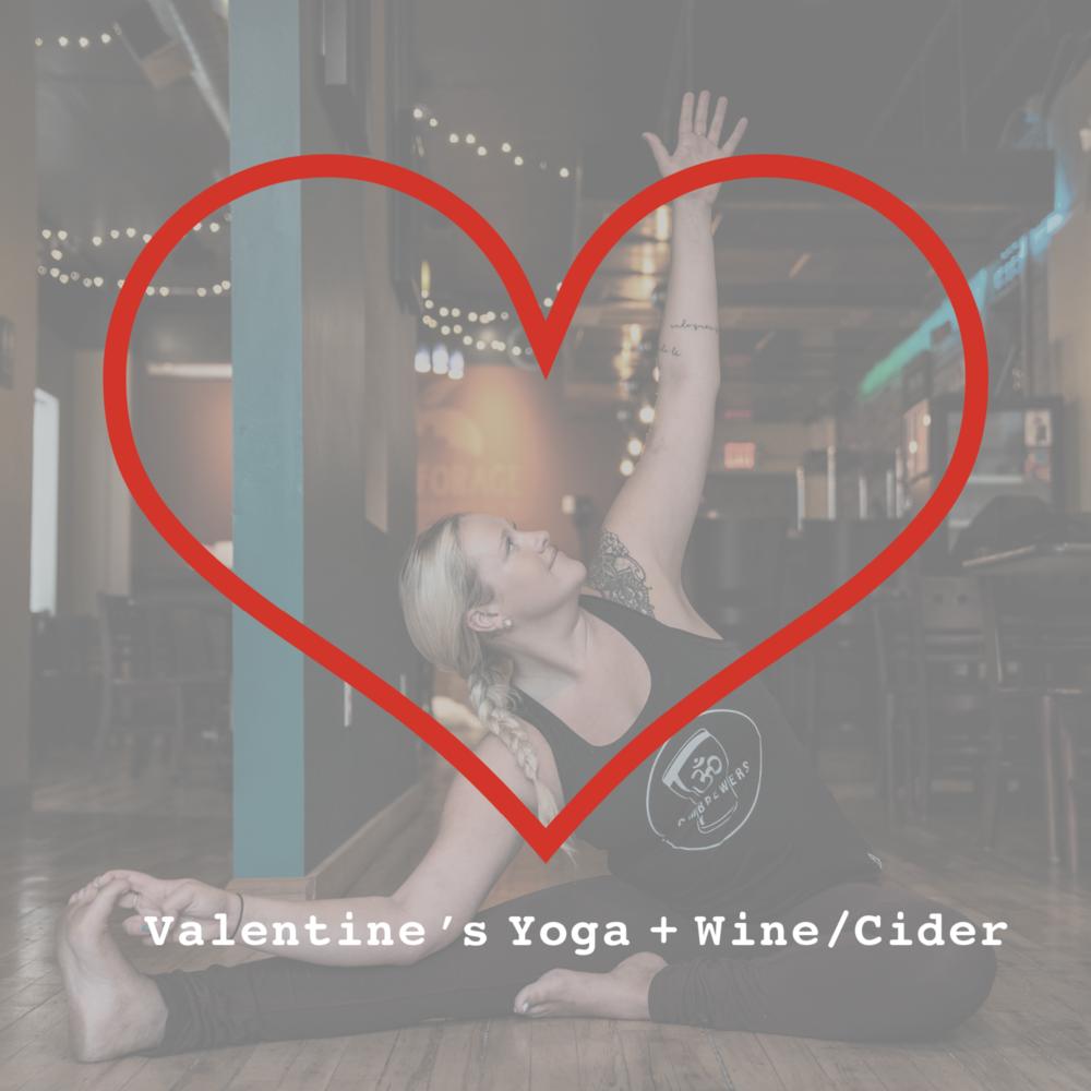 Slow Flow Yoga + Wine/Cider - Wednesday, February 137:00PM - 8:00PM