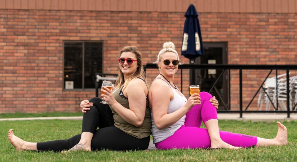 outdoor yoga beer des moines iowa