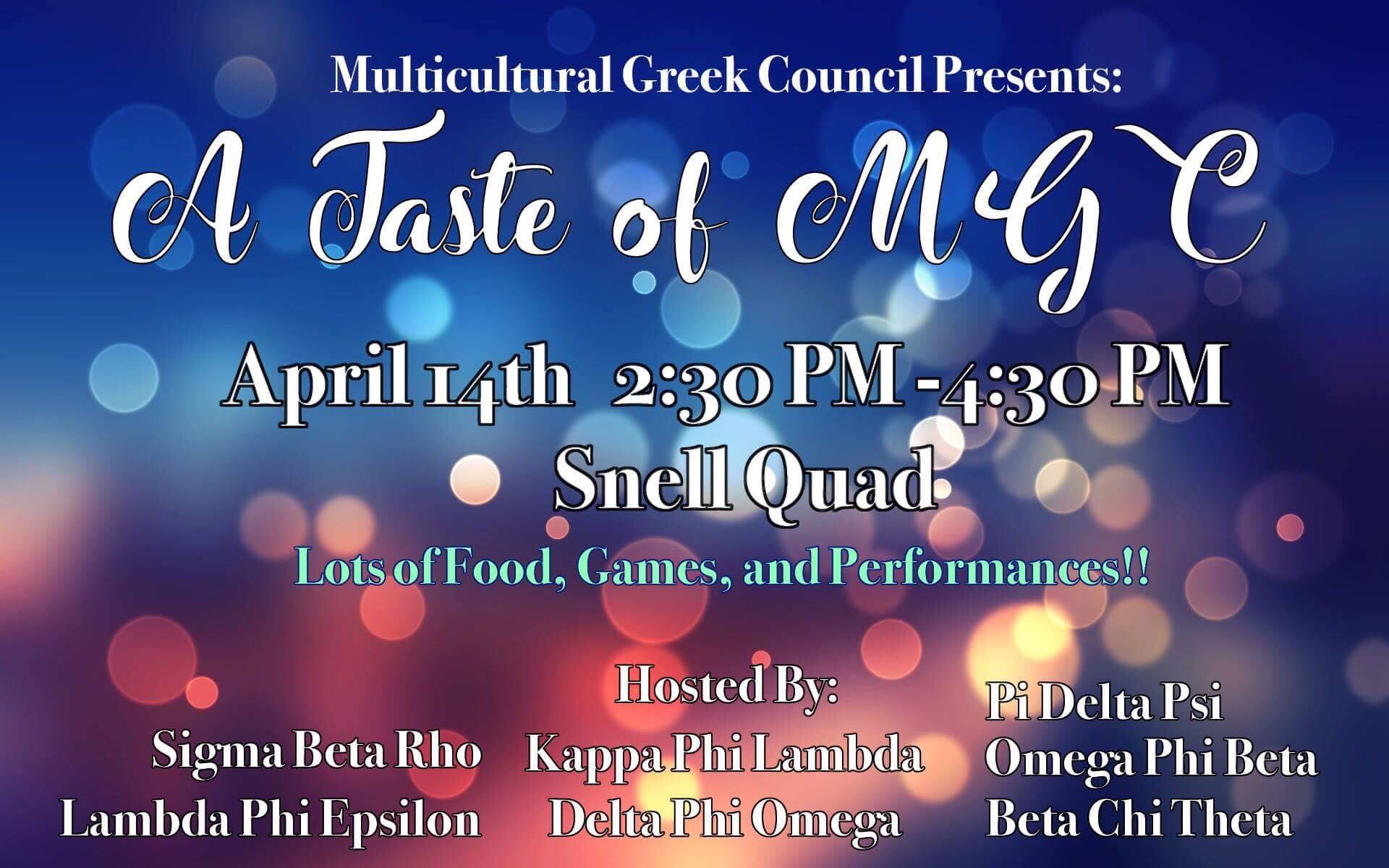 Mgc Presents A Taste Of Mgc Neu Kappa Phi Lambda