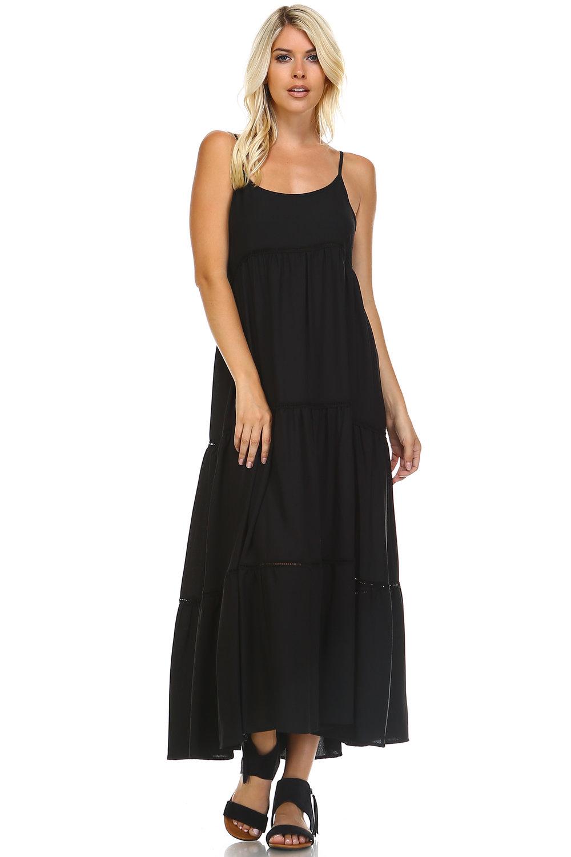 Black Spaghetti Strap Dress