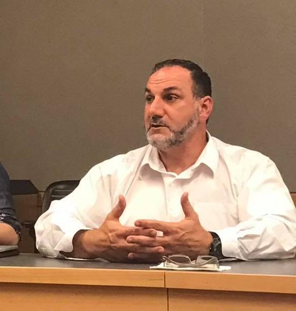 Jamal El Karaki speaking at UC Berkeley.