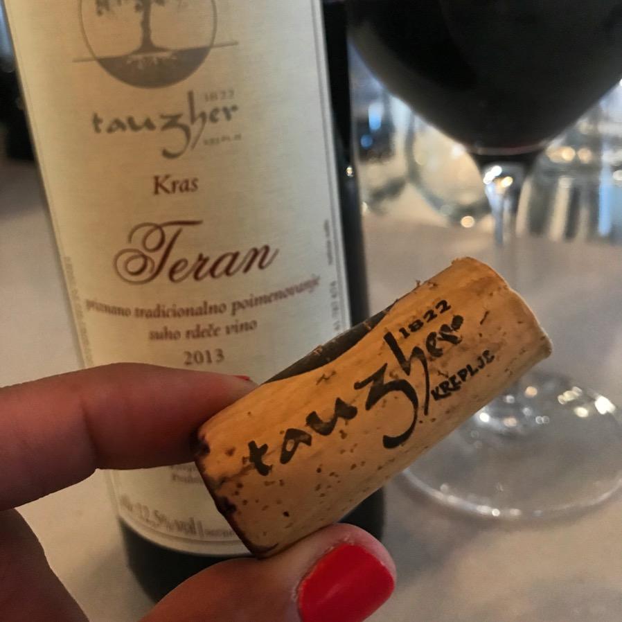 Tauzher. Slovenaian wine, delightful.