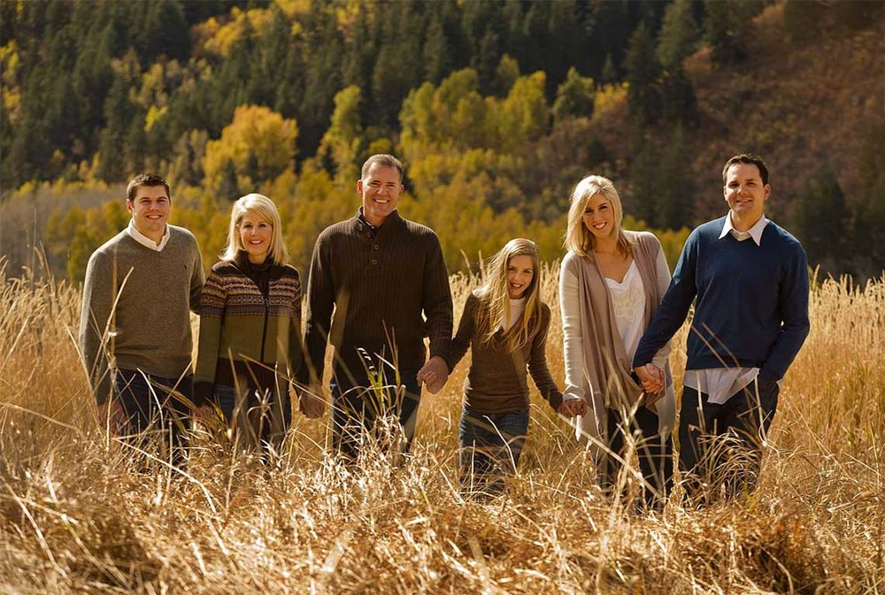 Family in Fall Colors Location Photography Aspen