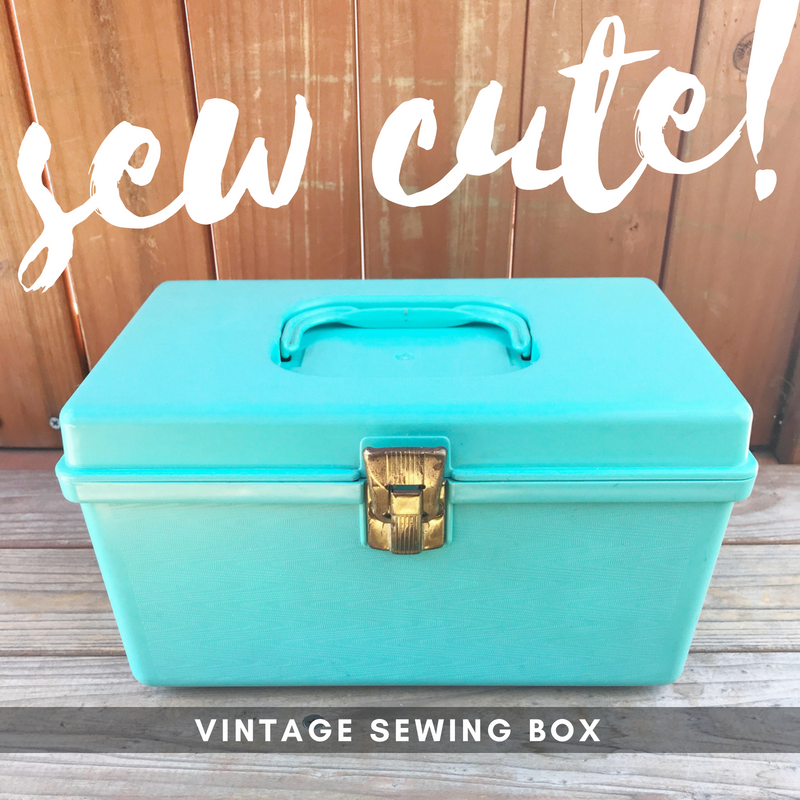 sew cute blue sewing box