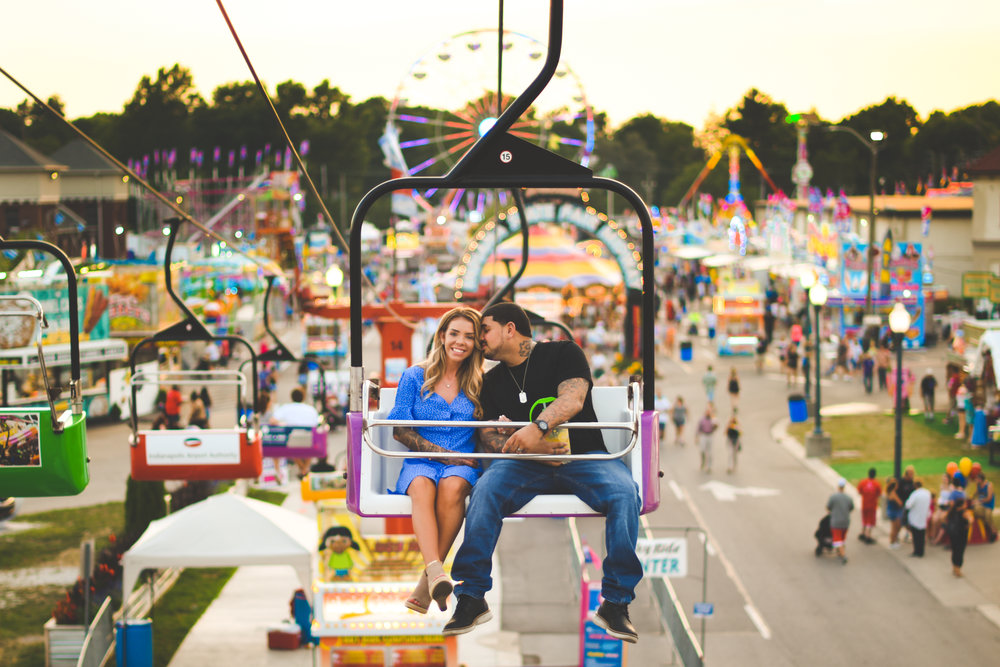 Indianapolis engagement photography - Indiana State Fair - Jordyn & Sam