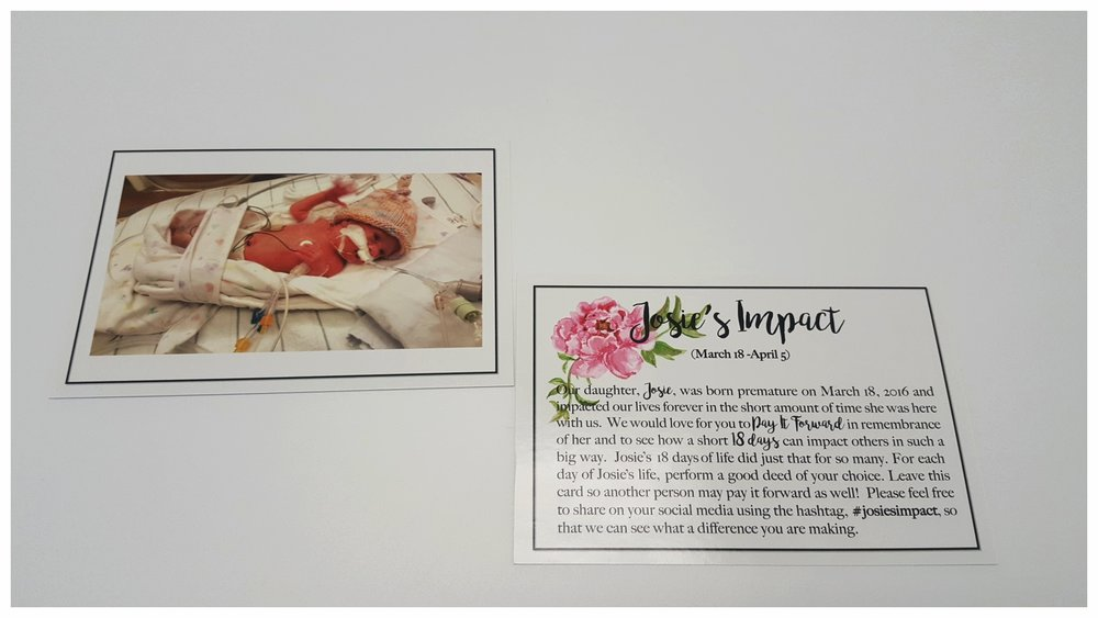 Josie's Impact cards