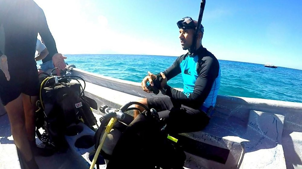 Rafael and his coral reef conservation work