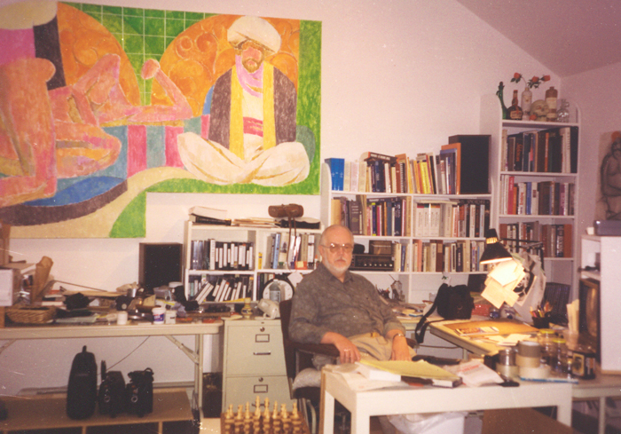 Ed Henrion in his studio circa 1996