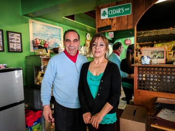 Tony Khoury and his wife, owners.