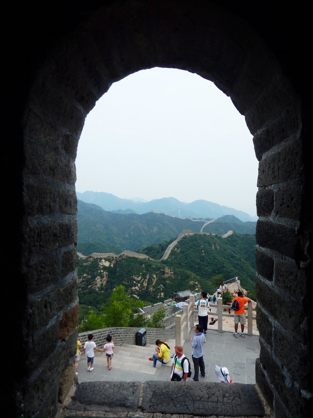 Great Wall of China Through Watchtower Window—Badaling Section