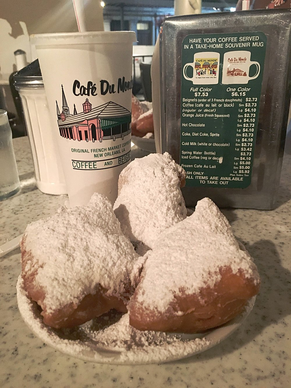 Late Night Beignets at Cafe Du Monde—New Orleans, LA