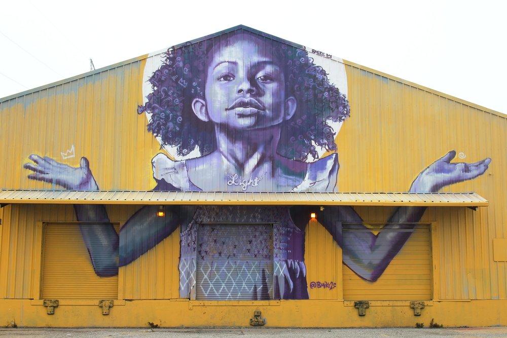 Brandan Bmike Odum Mural in New Orleans