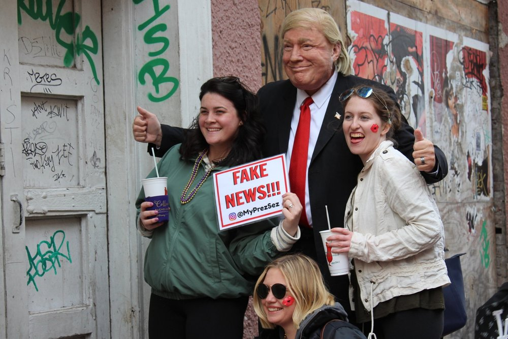 Fake News in the French Quarter, New Orleans