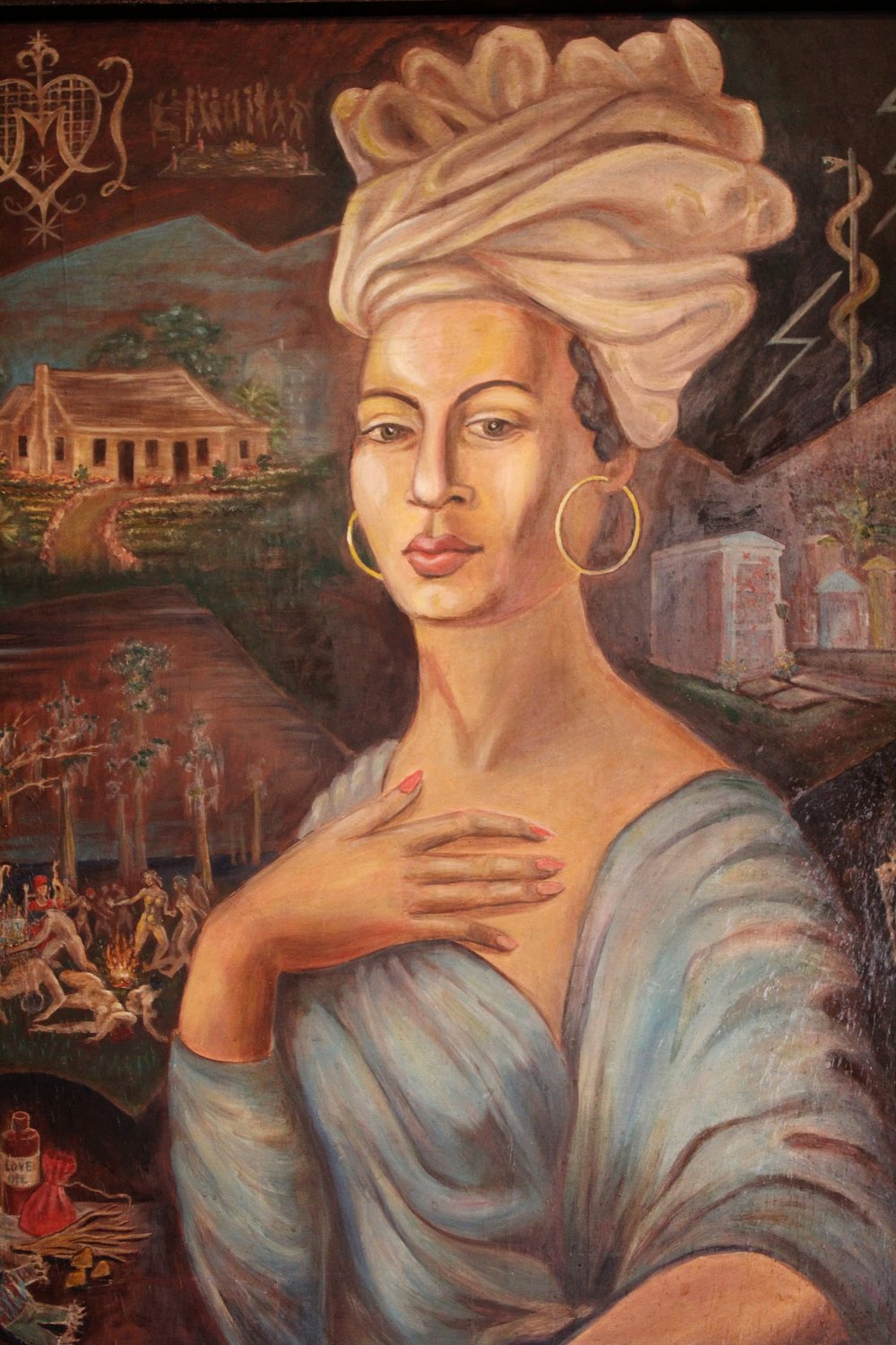 Marie Laveau Paining in New Orleans