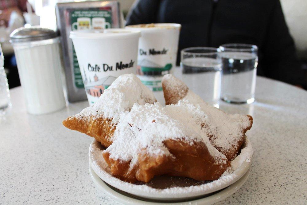 Beignets at Cafe Du Monde in New Orleans