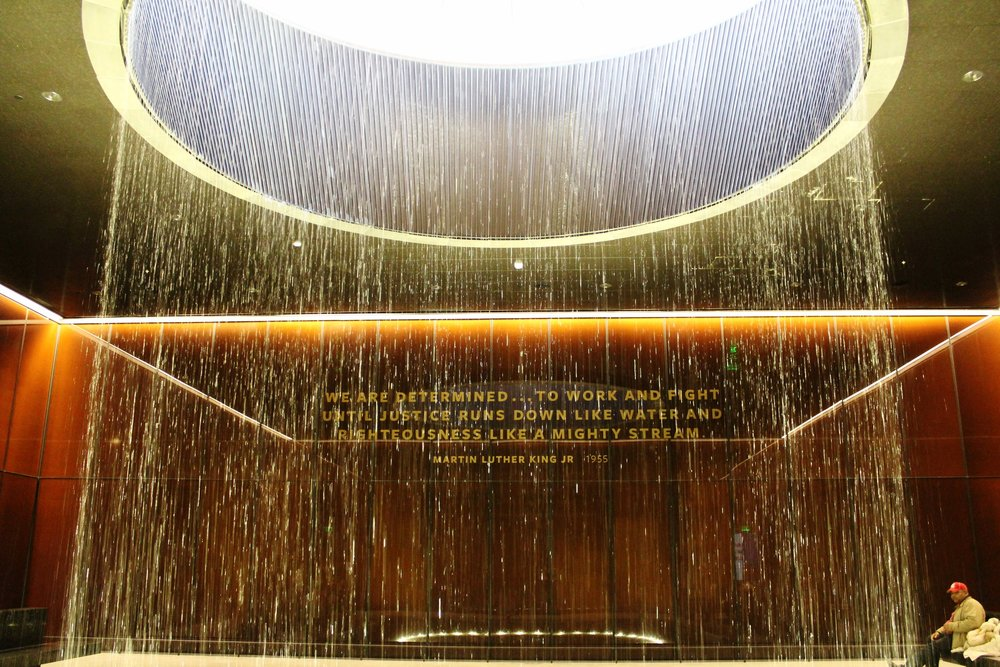 Fountain inside the NMAAHC's Contemplative Court