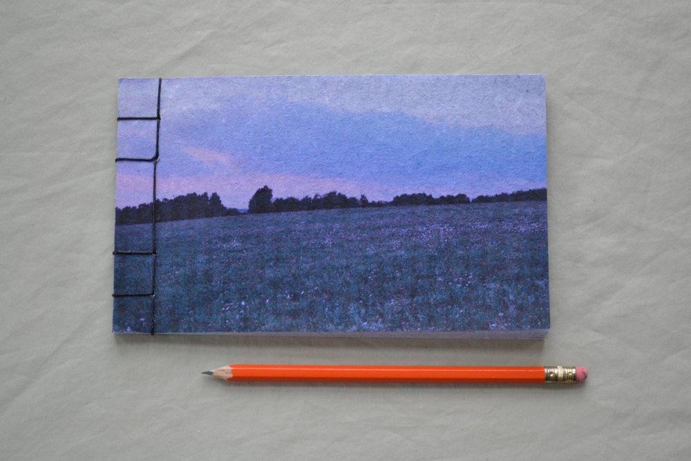 blue landscape book