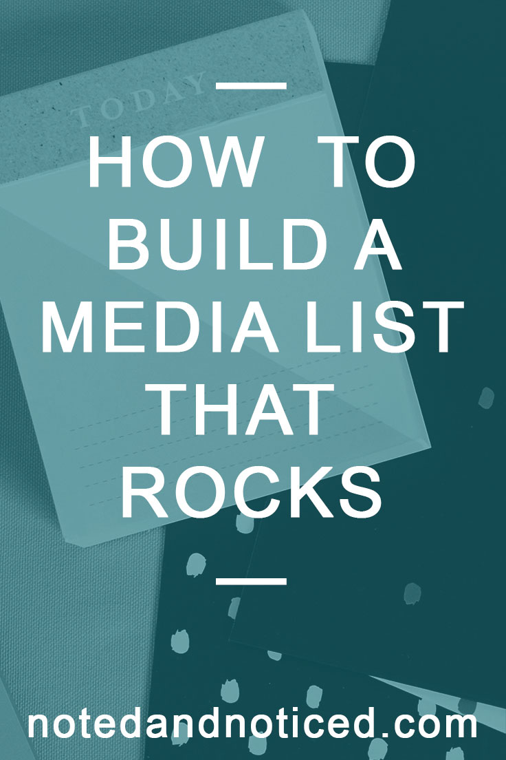 How to Build a Media List that Rocks