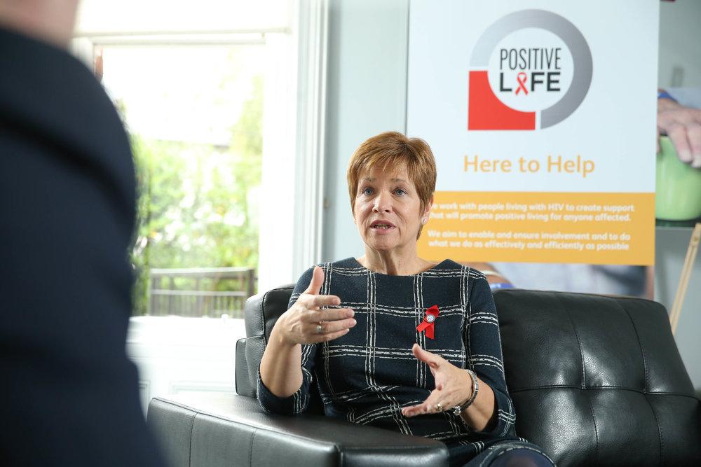 Chief Executive of Positive Life NI, Jacquie Richardson.