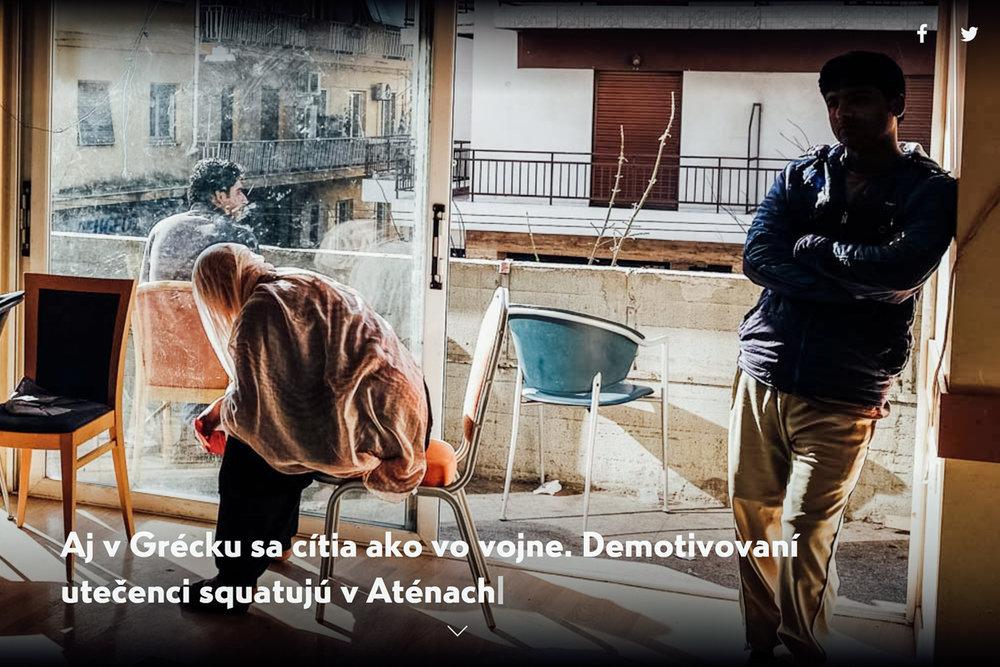 MONO- Aj v Grécku sa cítia ako vo vojne.Demotivovaníutečenci squatujúv Aténach -
