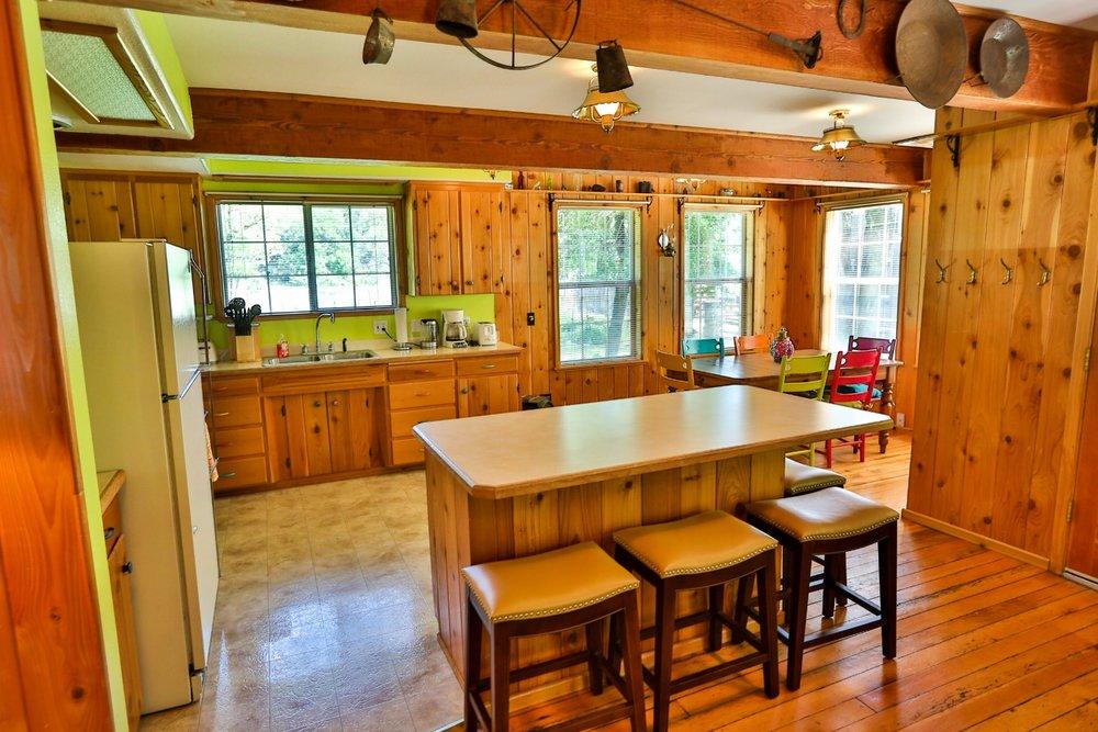 Gussie's guest house kitchen