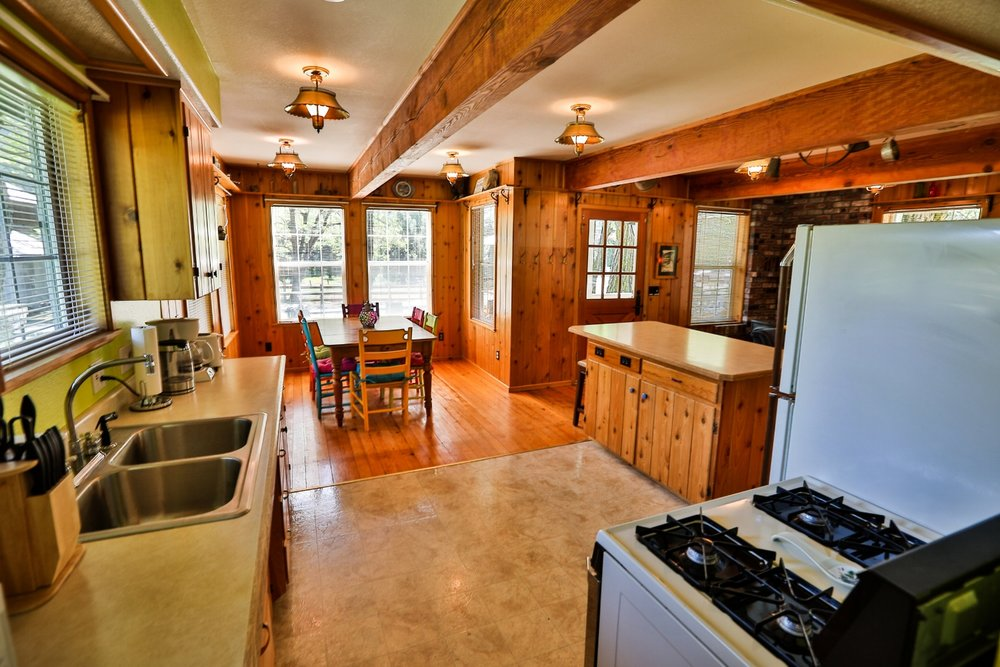 Gussie's house kitchen at Feeling Groovy at Eagle Creek Ranch