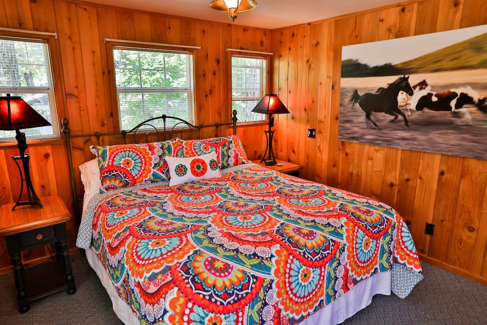 Gussie's house king suite at Feeling Groovy at Eagle Creek Ranch