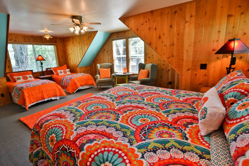 Gussie's king suite at Feeling Groovy at Eagle Creek Ranch