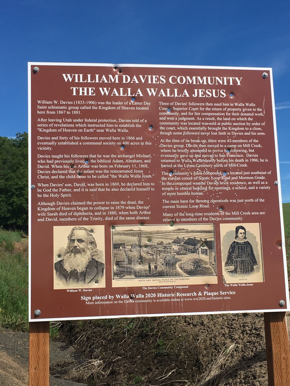 Sign for William Davies' Community