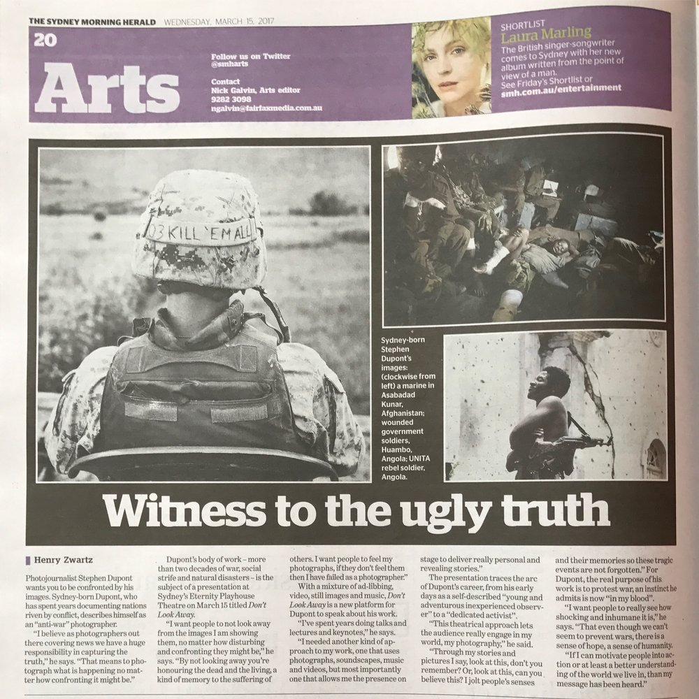 Sydney Morning Herald Arts, March 15, 2017.