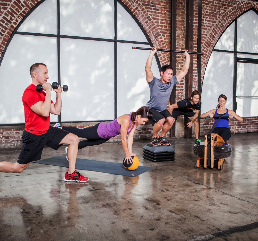 Total Body Workout - Rowing uses 84% of your muscle mass, among the largest of any activity, translating into a large calorie burn. You get the best of both worlds:  a cardio workout with the added bonus of toning muscle.