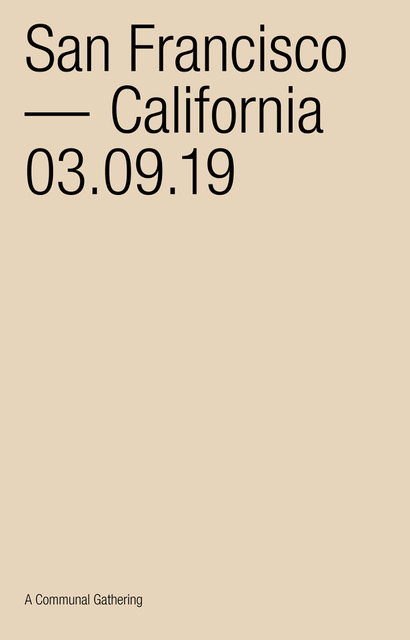 03/09/2019 @ THE CANTINA, SF •CALIFORNIA