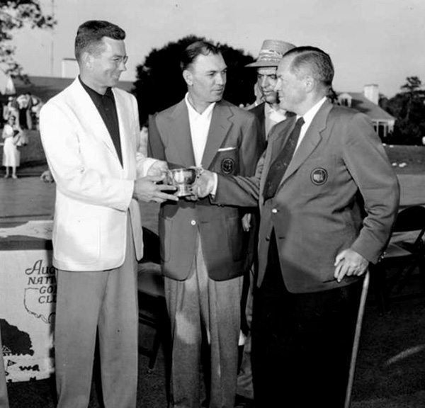 Patton accepted his low amateur honor from Jones while proudly wearing his new sportcoat.