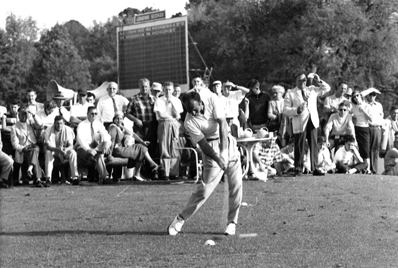 De Vicenzo displayed his long-drive ability at the 1956 Masters.