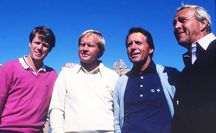 Tom, Jack, Gary and Arnie began the Skins Game...and Silly Season.