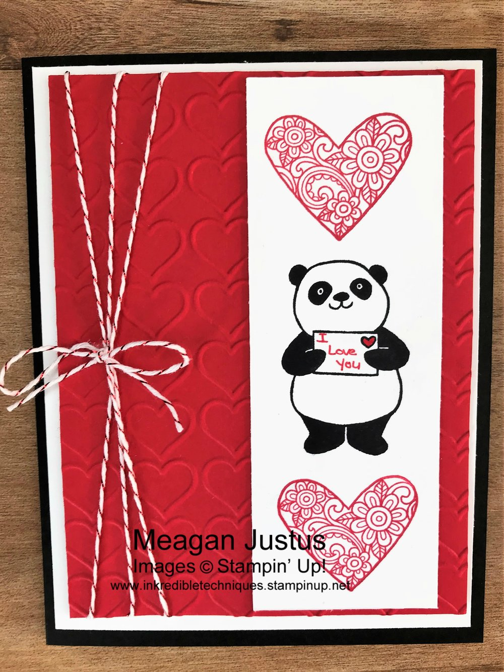 Inkredible Techniques Valentine's Day Card