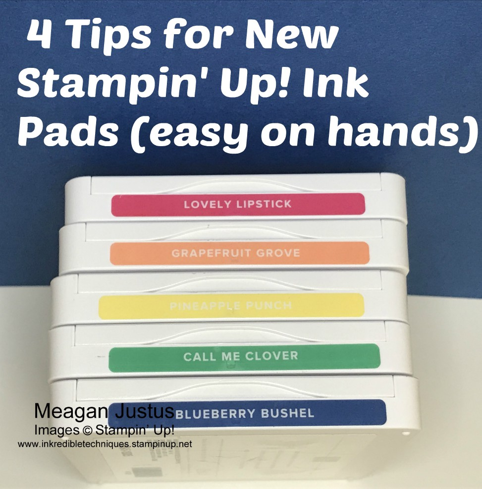 4 Tips for the New Stampin' Up Ink Pads release 2018