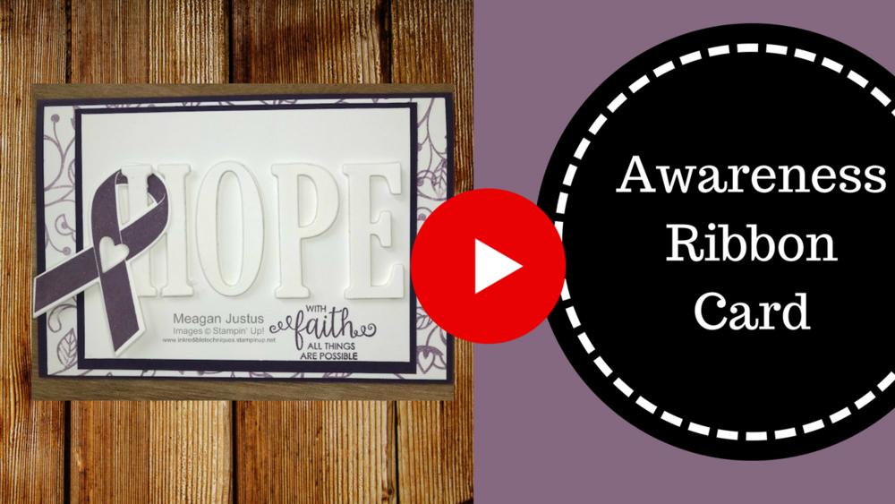 How to Make an Awareness Ribbon Card