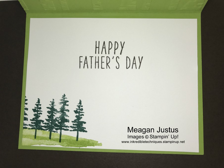 Masculine Card Inside Card Greeting