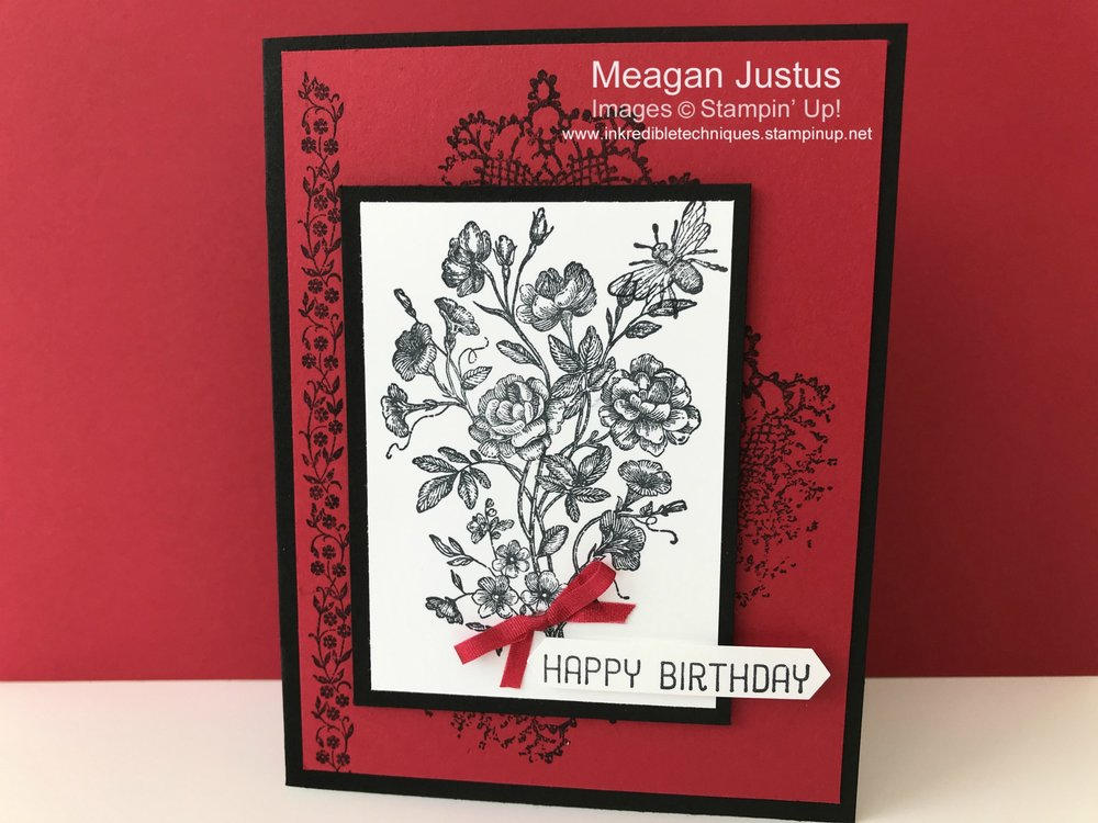 Handmade Card Design Featuring Very Vintage by Stampin' Up!