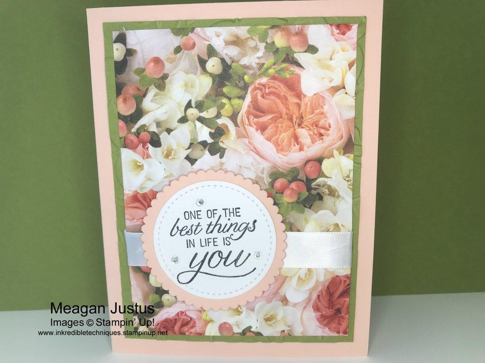 Easy Card Design Using Scrapbook Paper