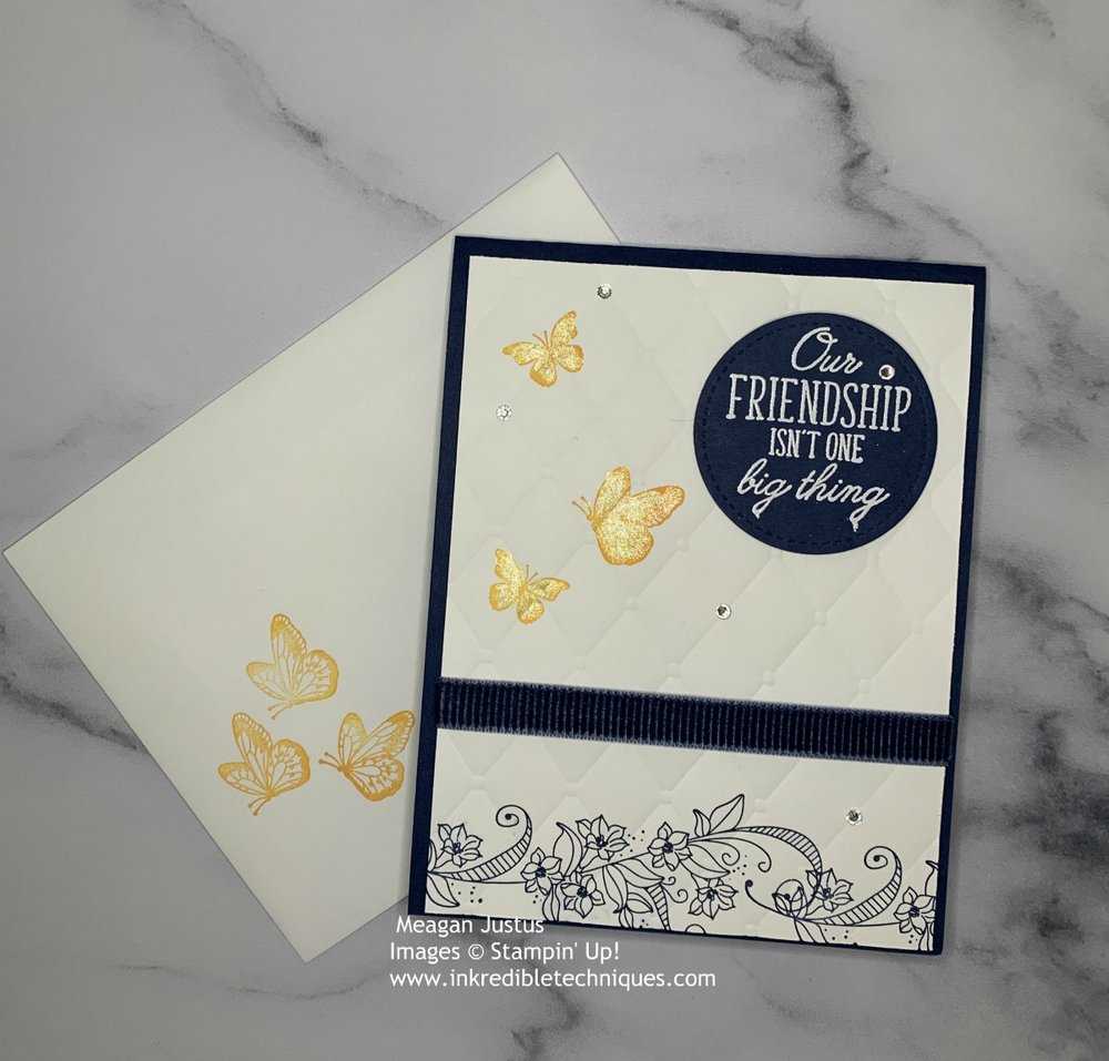 Stamping the front of your envelope is a nice touch