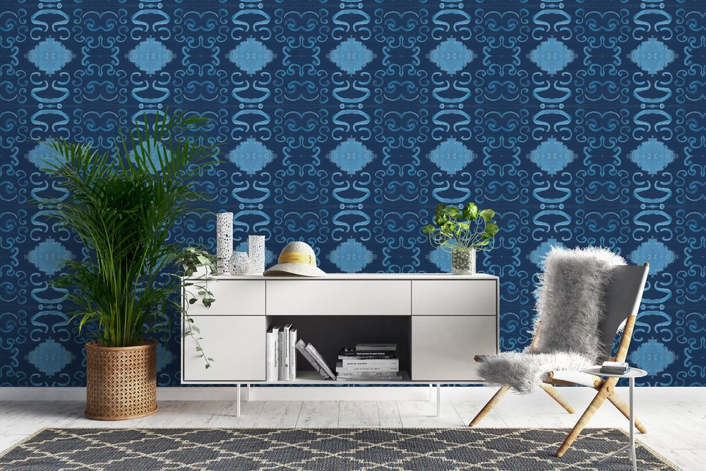 Marrakech Wallpaper Indigo