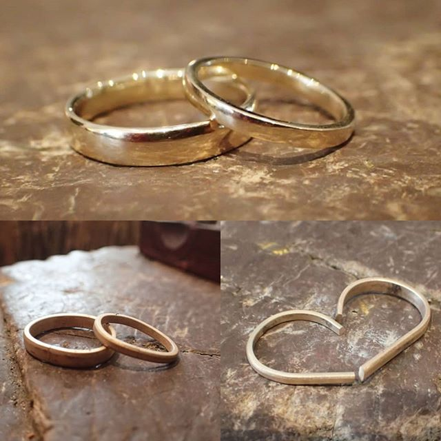 I couldn't just make my wedding dress... we also had to make each other's wedding bands! 😍😊 #theweddingbandworkshop #diycouple #diywedding