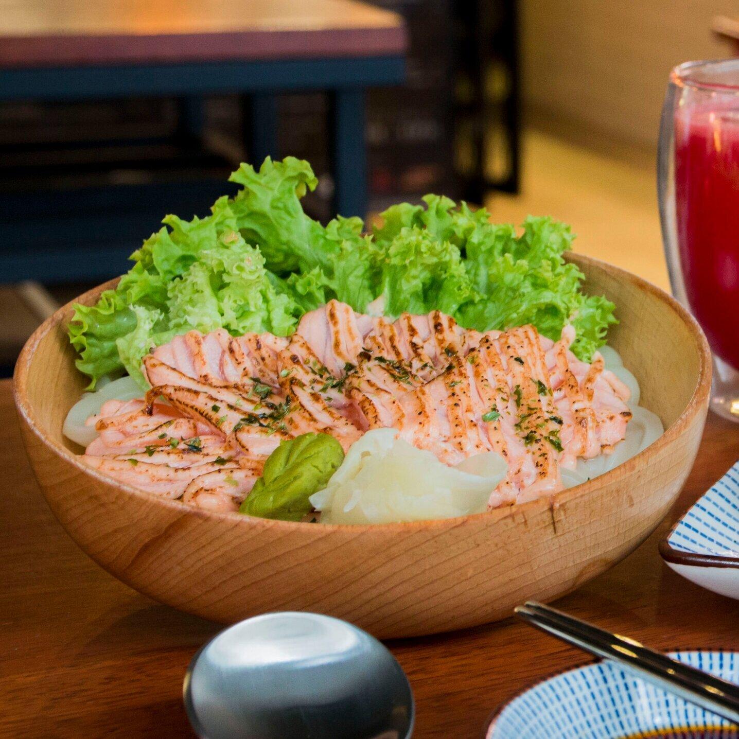 Salmon Samurai Delivery - Salmon Mentaiko & Udon Noodles — Salmon Samurai