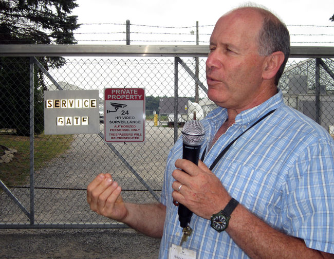 Richard Kropman, a vice president of the MariCann medicinal marijuana production facility near Langton, announced plans for a major expansion this week. Kropman spoke to a tour group outside the MariCann compound on Walsingham Road 8 due to federal security regulations for licenced marijuana facilities. MONTE SONNENBERG / SIMCOE REFORMER