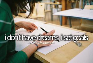 i set goals